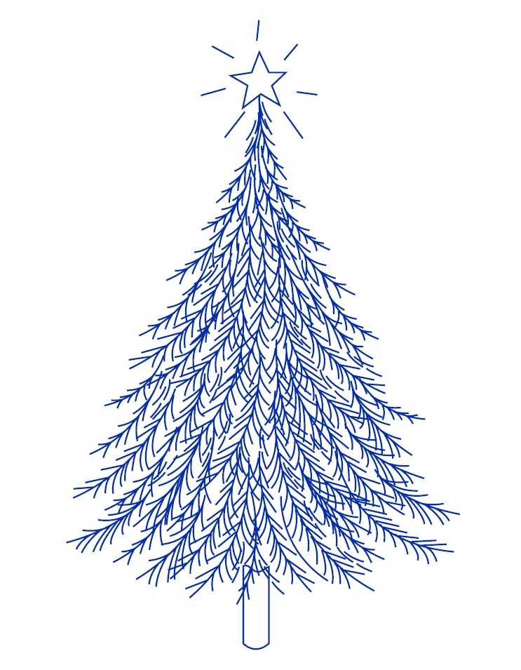 Новогодняя вышивка гладью елка рисунок