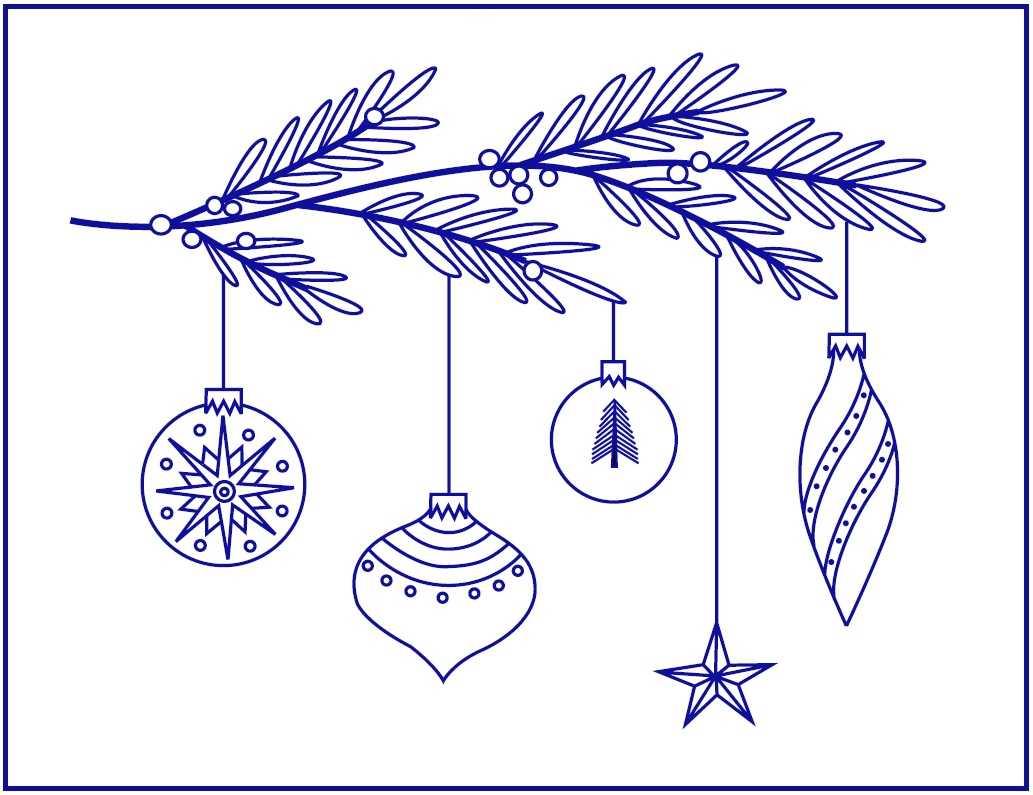 Новогодняя вышивка гладью Елочные игрушки 2 рисунок