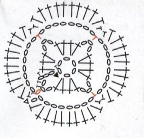 Объемный узор крючком №2011 схема