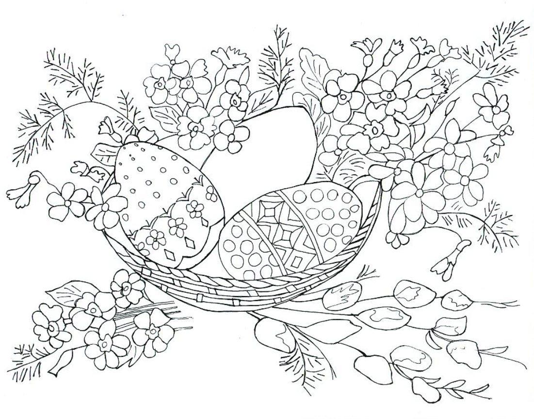 Пасхальный натюрморт схема вышивки гладью