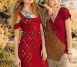 Платье крючком с открытыми плечами