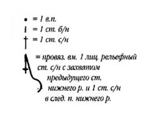 Плотный узор крючком №1610 (схема 2)