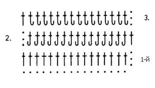 Плотный узор крючком №1612 схема