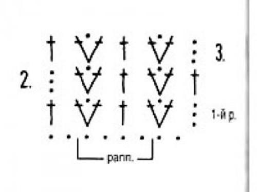 Плотный узор крючком №1615 схема