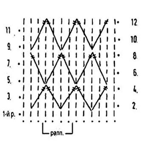 Плотный узор крючком №1618 схема