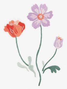 Полевые цветы гладью