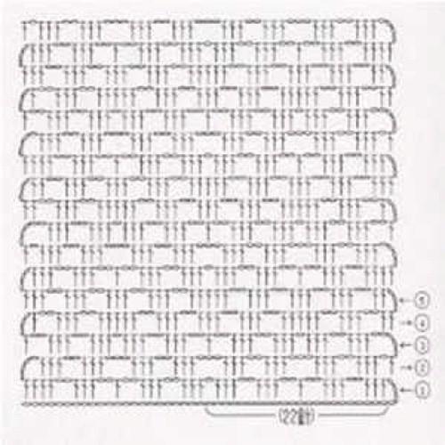 Простой узор крючком №1205 (схема)