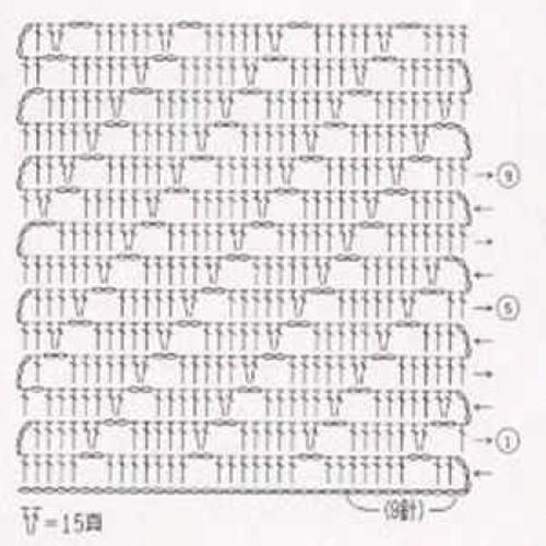 Простой узор крючком №1209 (схема)