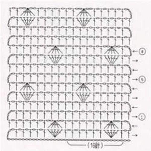 Простой узор крючком №1211 (схема)