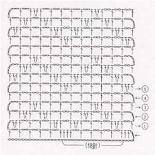 Простой узор крючком №1212 (схема)