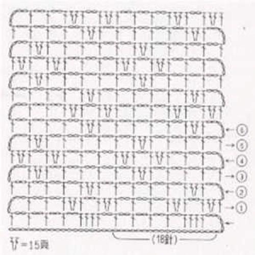 Простой узор крючком №1214 (схема)