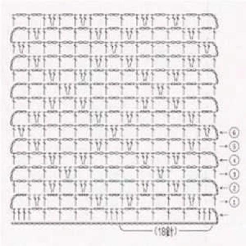 Простой узор крючком №1215 (схема)