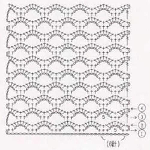 Простой узор крючком №1226 (схема)