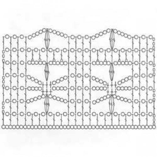 Простой узор крючком №1237 (схема)