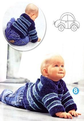Пуловер для малыша с застежкой на спине