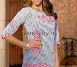 Пуловер крючком с филейным узором