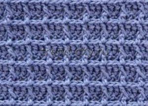 Рельефный узор крючком №1400