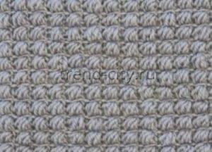 Рельефный узор крючком №1402