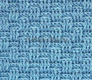 Рельефный узор крючком №1406