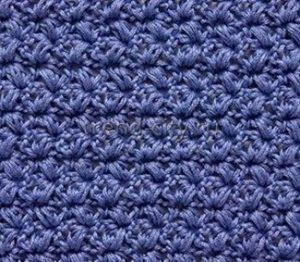 Рельефный узор крючком №1408