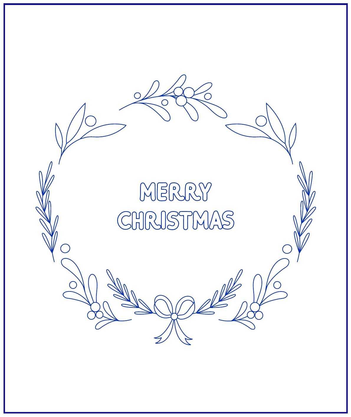 Рождественский венок рисунок