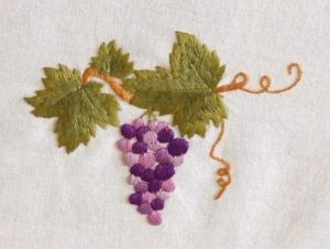 Схема для вышивки гладью Виноград