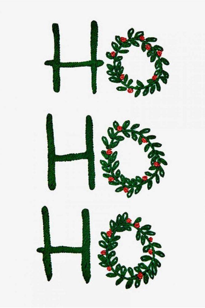 Смех Санта Клауса вышивка гладью
