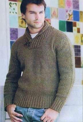 Спортивный свитер спицами и крючком