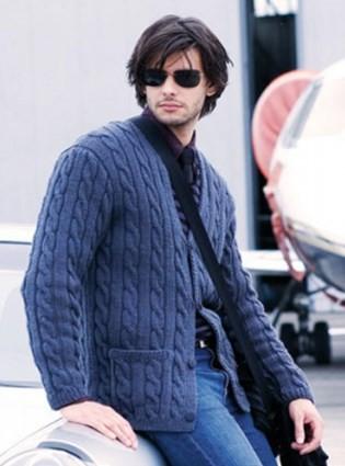 Стильный мужской жакет с карманами