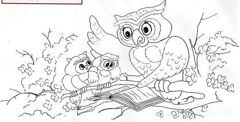 Ученая сова вышивка гладью схема