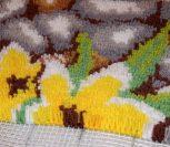 ВИДЕО УРОК: Ковровая вышивка «Цветы на камнях»