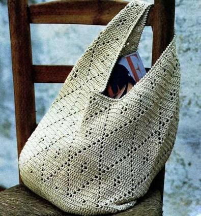 Вязаная сумка-авоська крючком