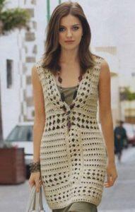 Вязаное ажурное платье для леди