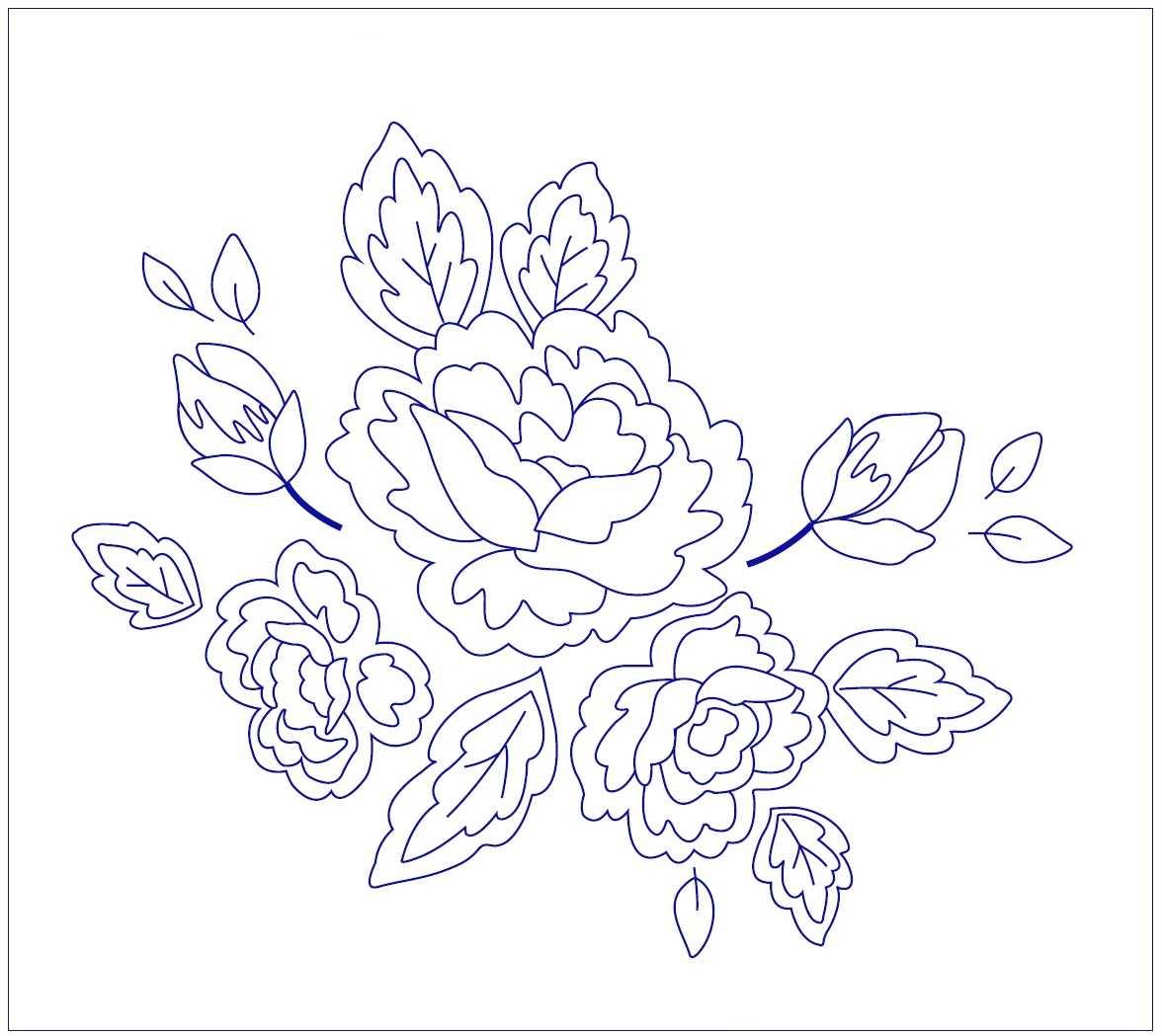 Вышивка Розы гладью рисунок