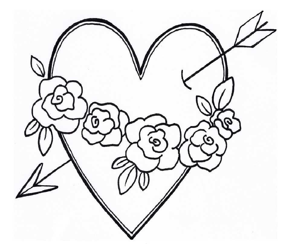 Вышивка сердечко со стрелой гладью рисунок
