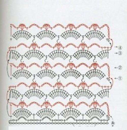Жаккардовый узор крючком №1005 (схема)