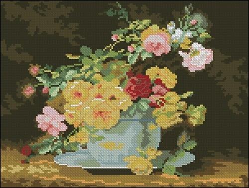 Rose in a Porcelain Bowl