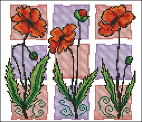 Тhree poppies