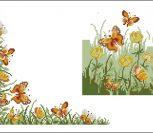 Скатерть с бабочками и цветами