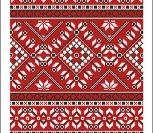 Красный орнамент для рушника
