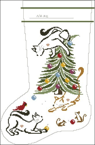 Britty Kitty Christmas Stocking
