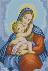 Мадонна с младенцем на руках
