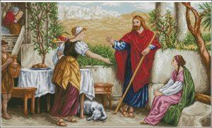 Иисус с Марфой и Марией