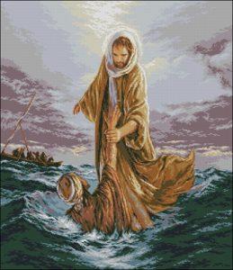 Isus salvandu-l pe Petru (Иисус, спасающий Петра)
