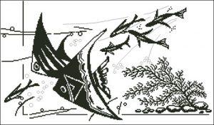 Монохромные рыбки