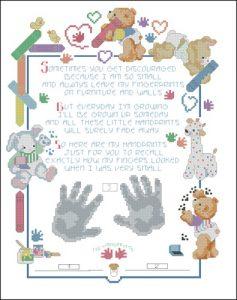 Метрика для рождения с детскими отпечатками