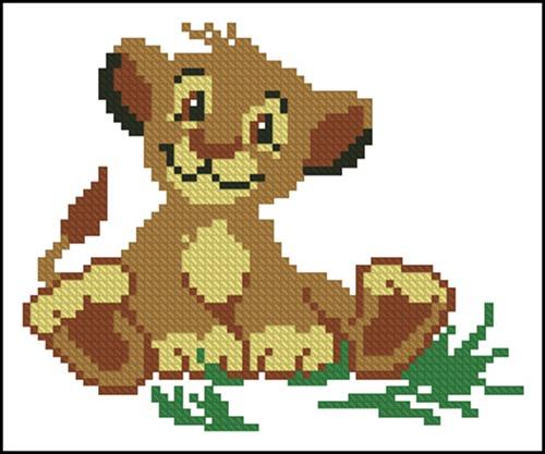 Довольный львенок