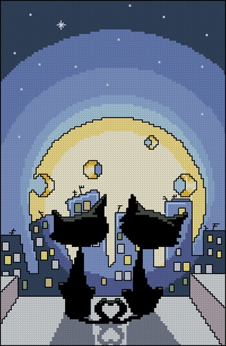 Cats and Cheese Moon