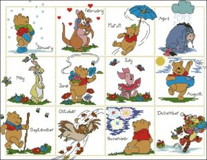 Pooh & Friend's Calender