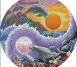 Sun and moon dolphins